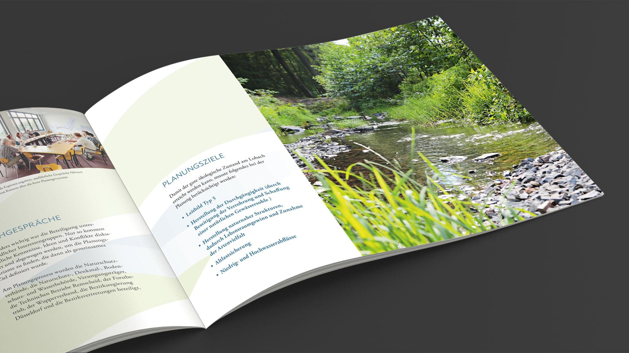 Broschüre für die Renaturierung des Lobachs