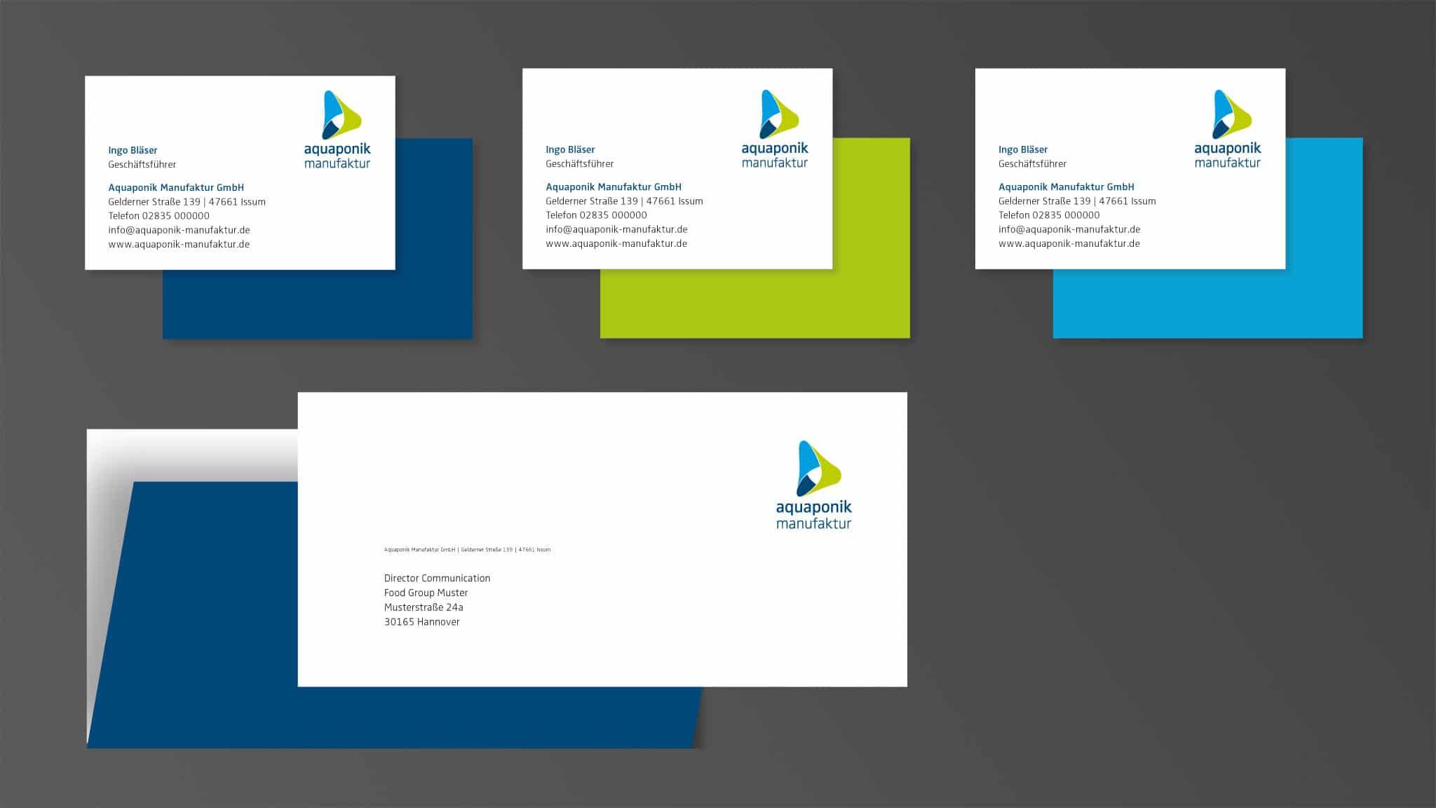 Briefpapiere für die Aquaponik Manufaktur