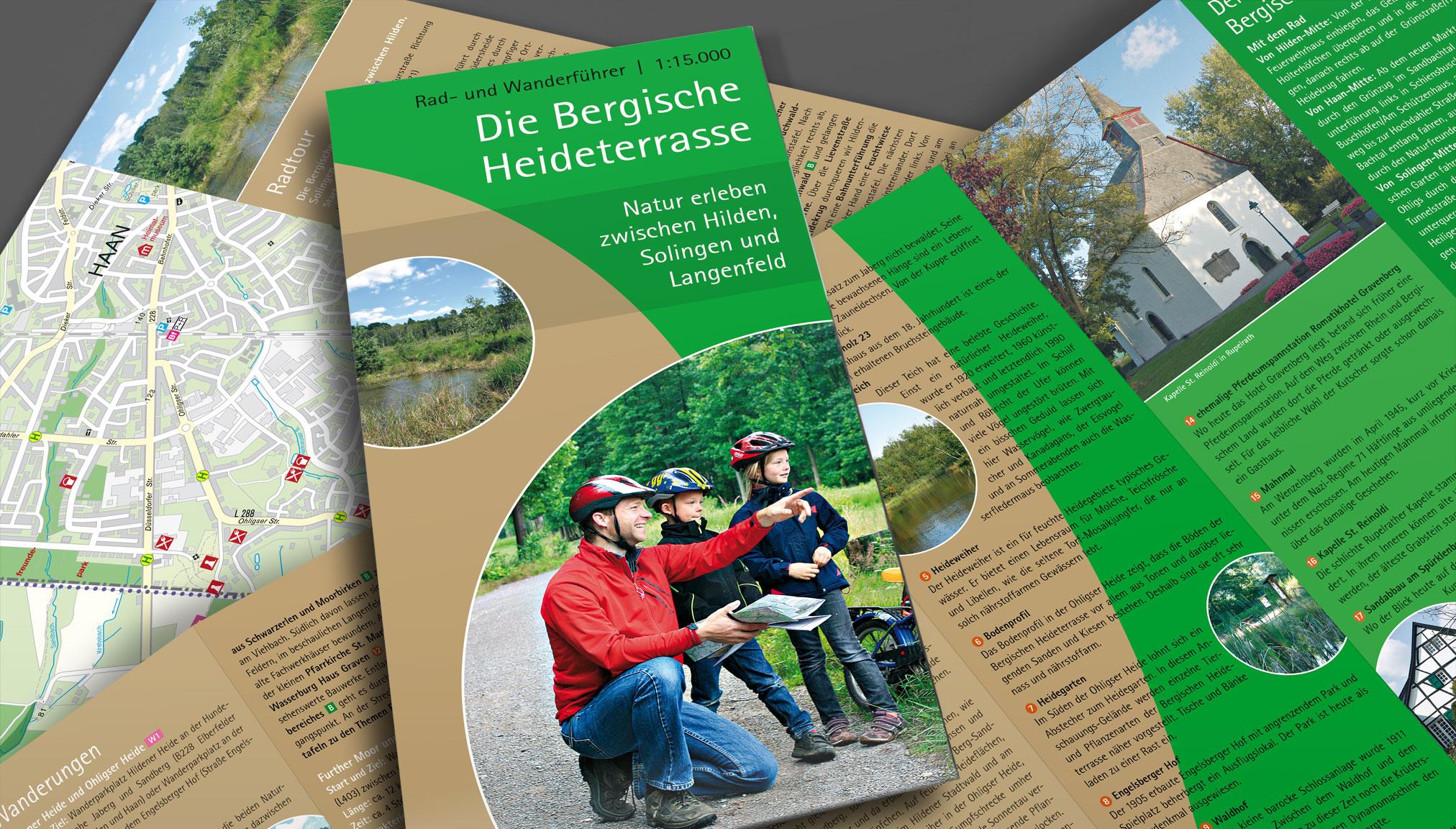 Kartendesign für die Bergische Heideterasse