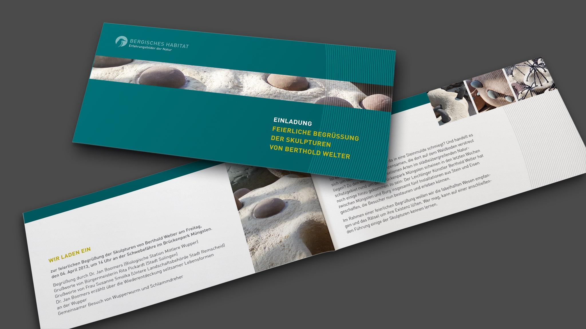 Gestaltung Einladungskarte für das Bergische Habitat