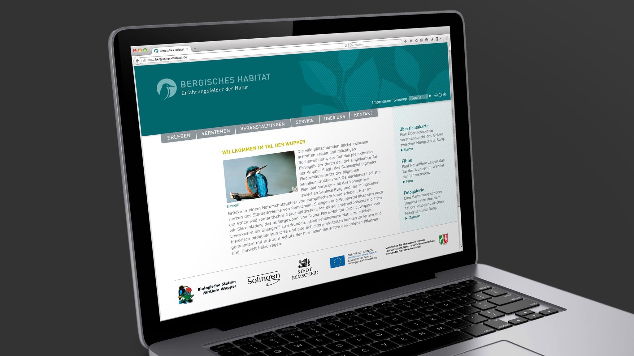 website erstellen für das Bergische Habitat