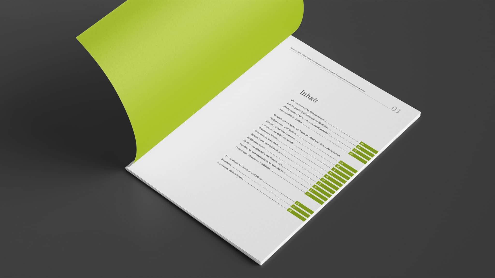 Inhaltsverzeichnis der Broschüre