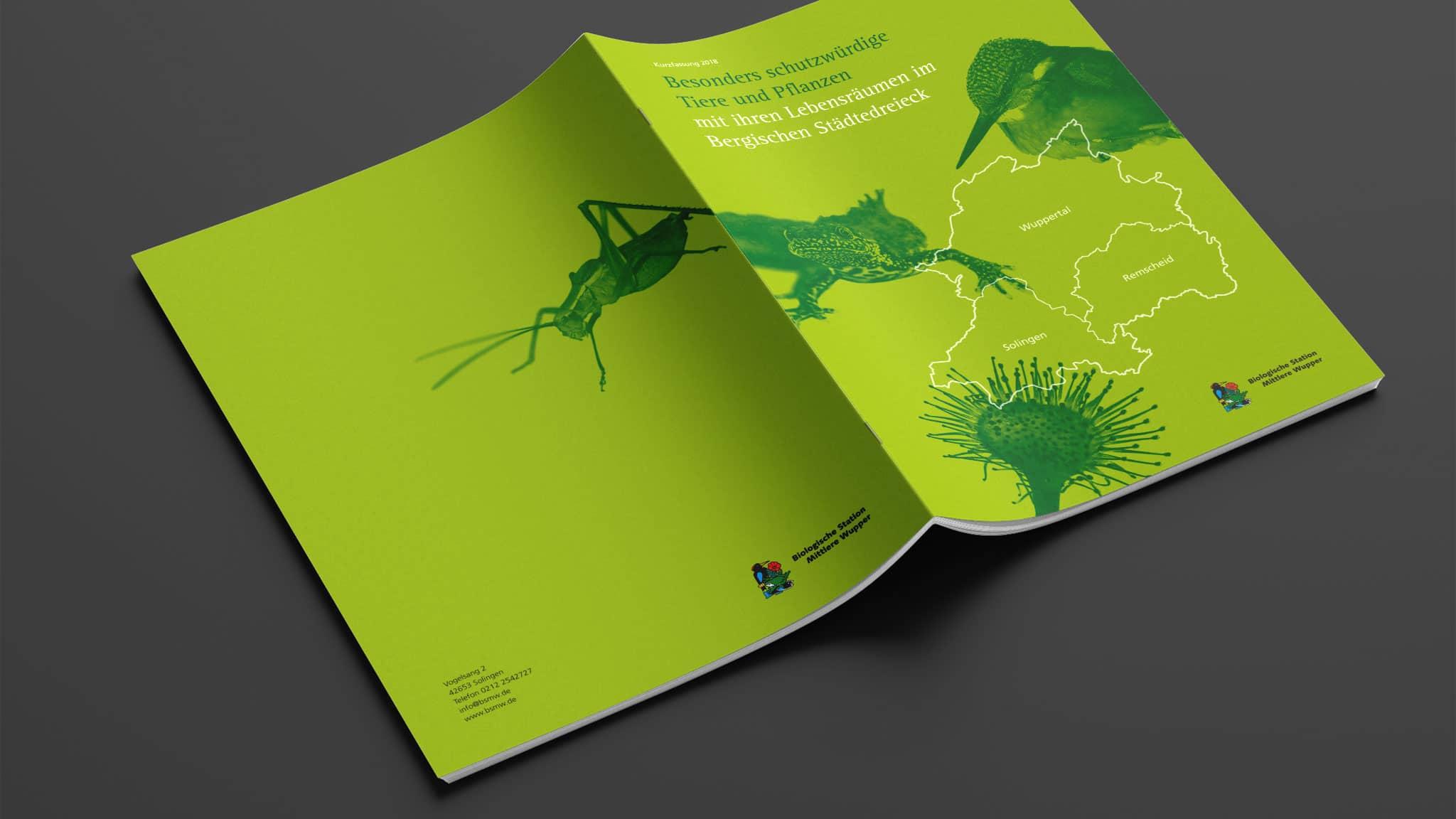 Umschlag-Design für die Broschüre Bergisches Städtedreieck