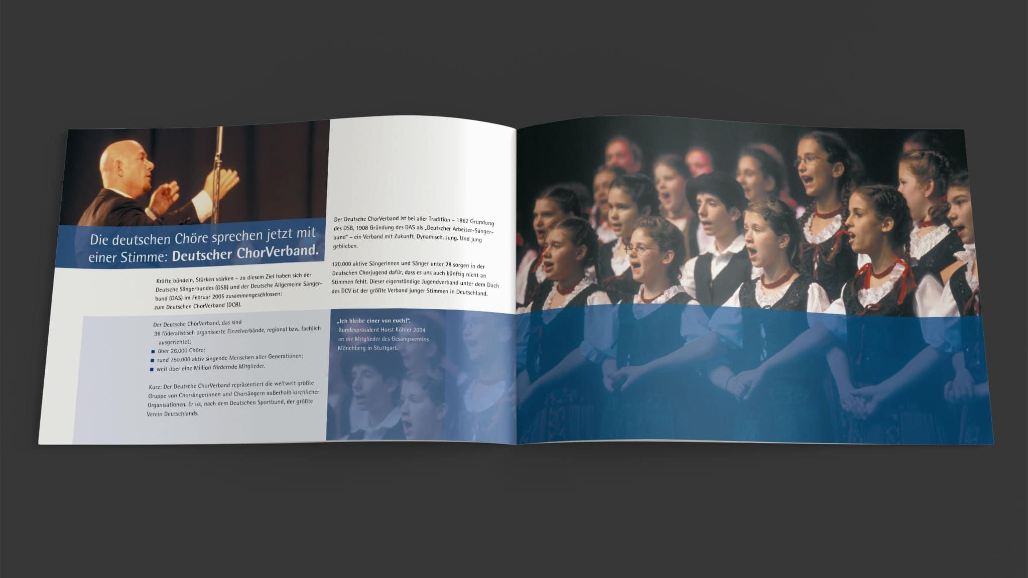Doppelseite Imagebroschüre Deutscher Chorverband