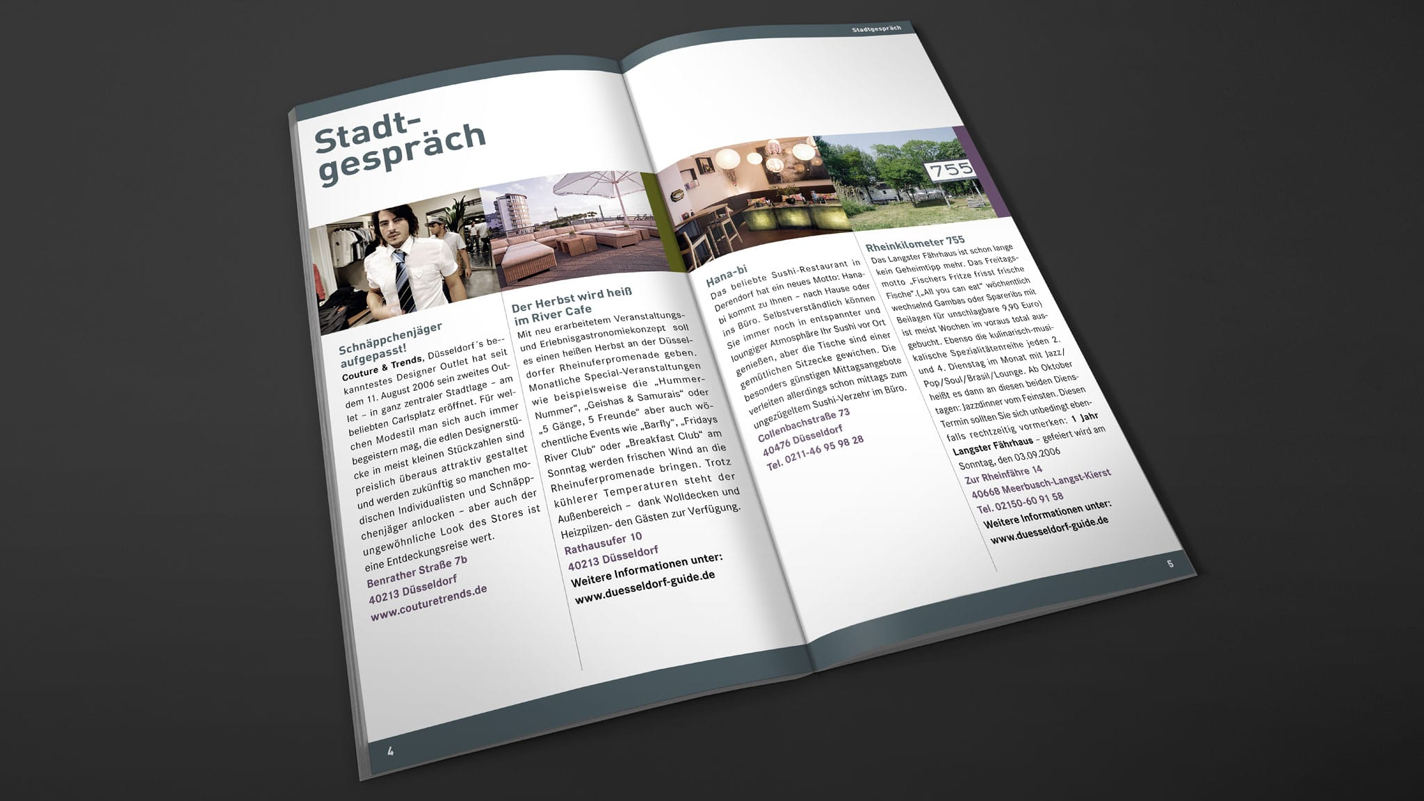 Innenseite Stadtmagazin