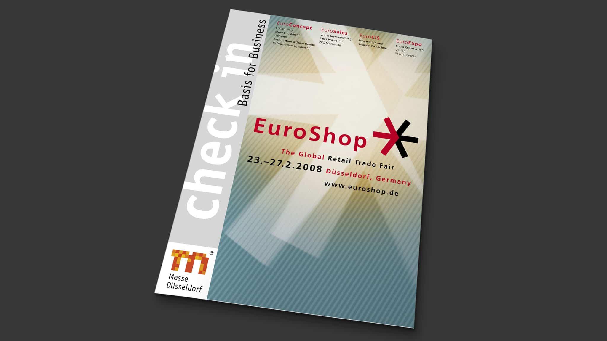 Titel Check in Broschüre für die EuroShop