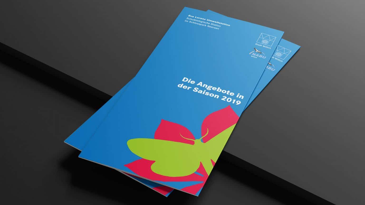 Faltblatt des Programms der Eva Lorenz Station