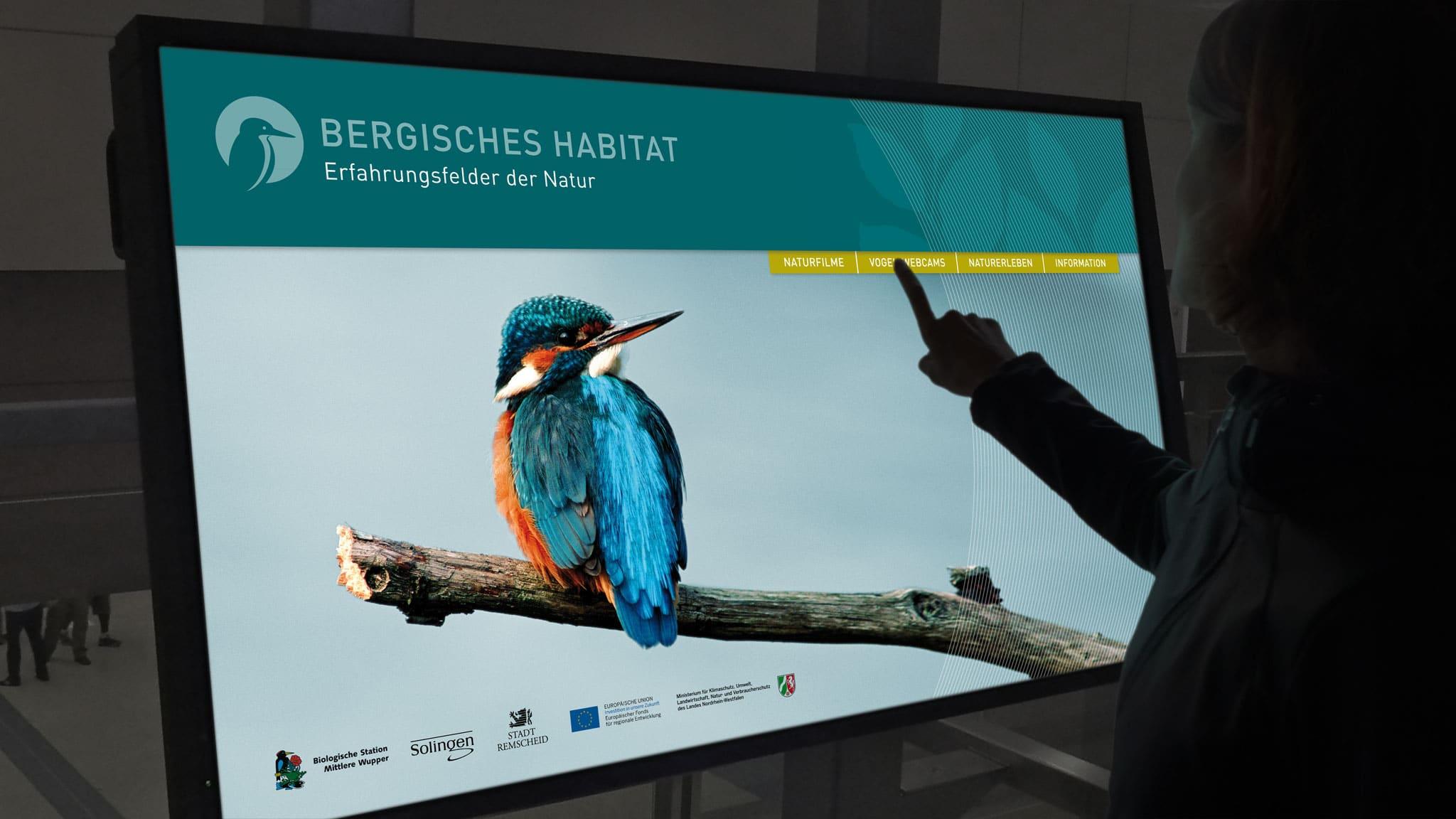 Touchscreen für das Bergische Habitat