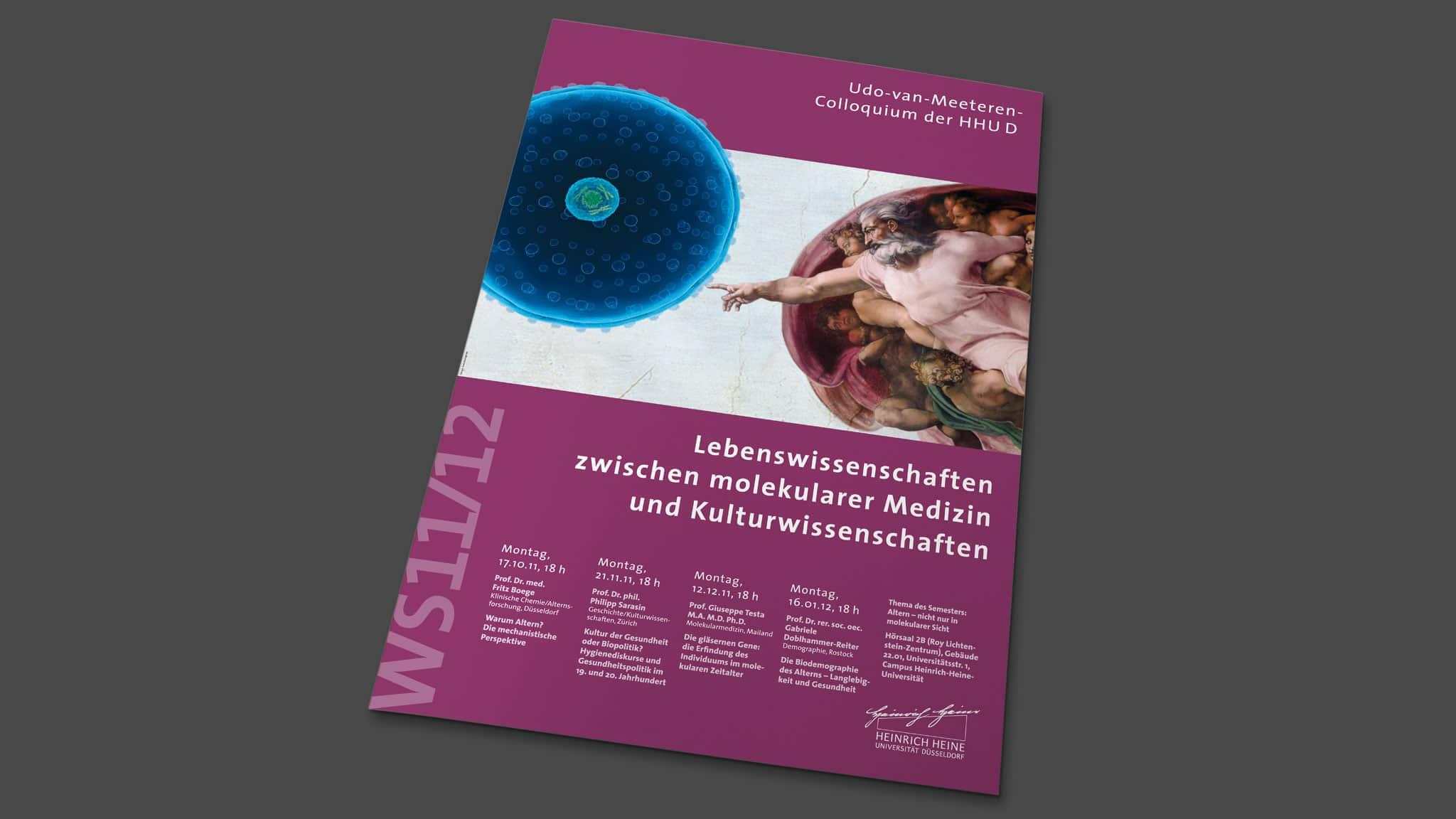 Plakatgestaltung für die Universität Düsseldorf
