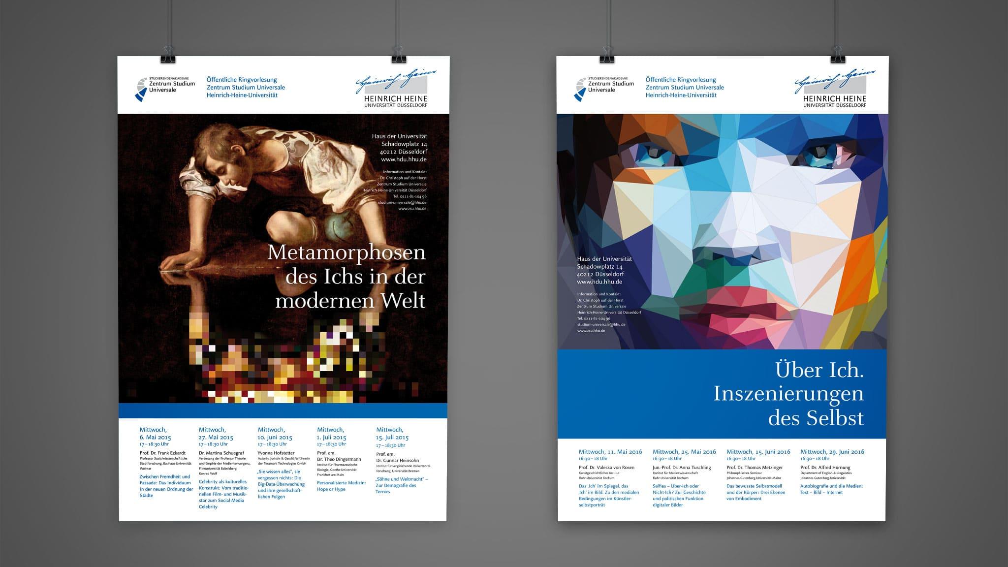 Plakatdesign für die Universität Düsseldorf