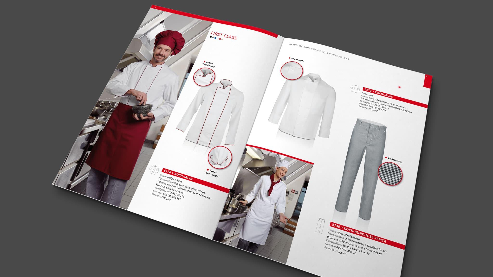 Innenseiten Katalog für Larosé