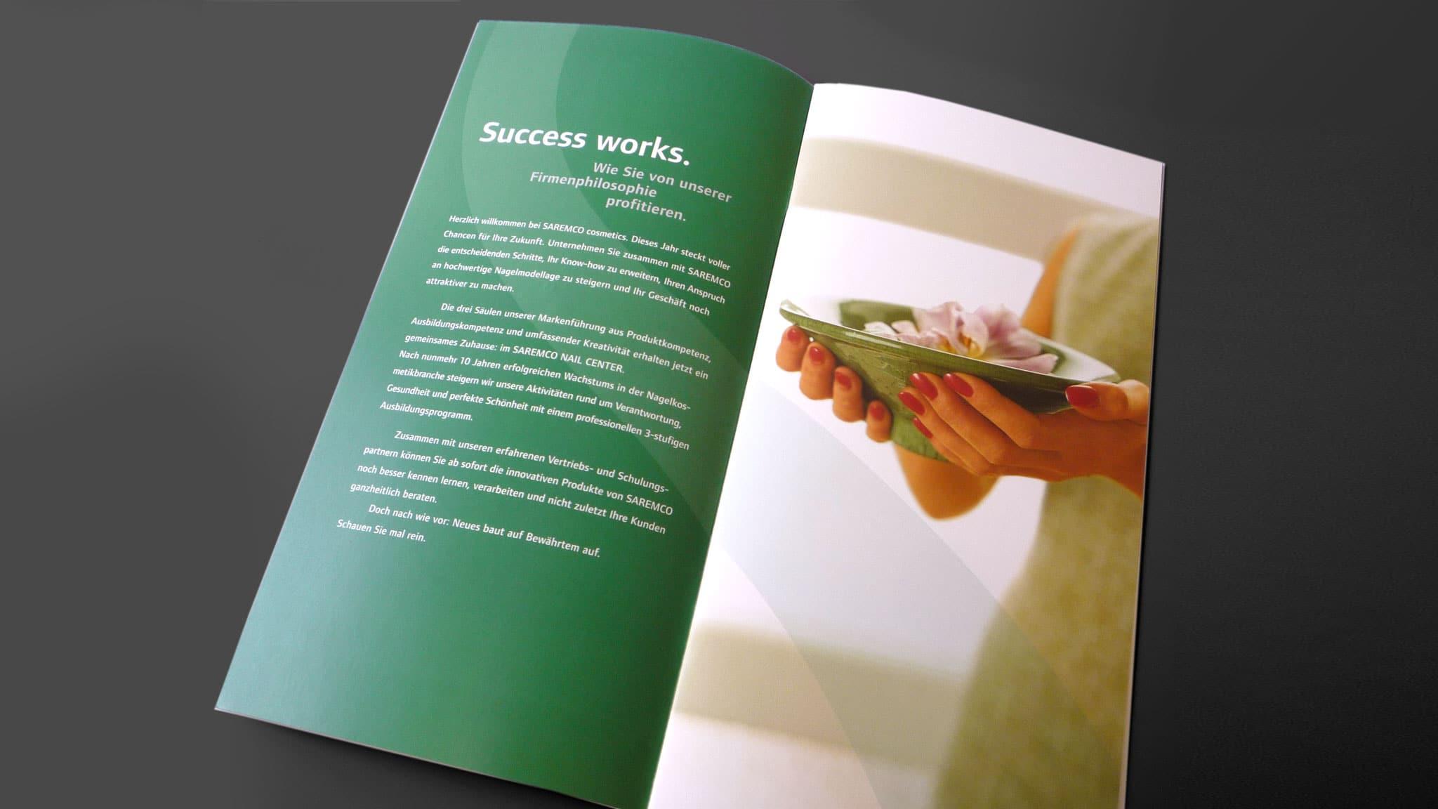 Grafik-Design Innenseite für einen Kosmetik-Hersteller