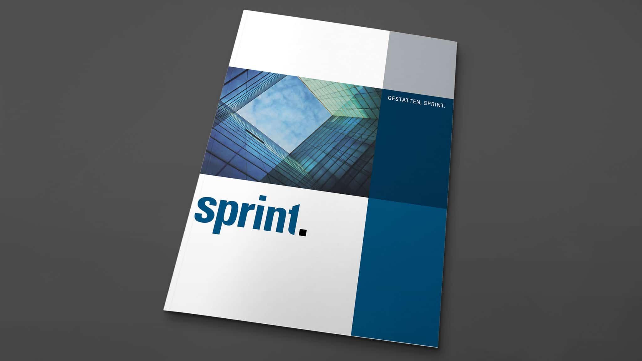 Titelgestaltung Imagebroschüre der Sprint Sanierung GmbH