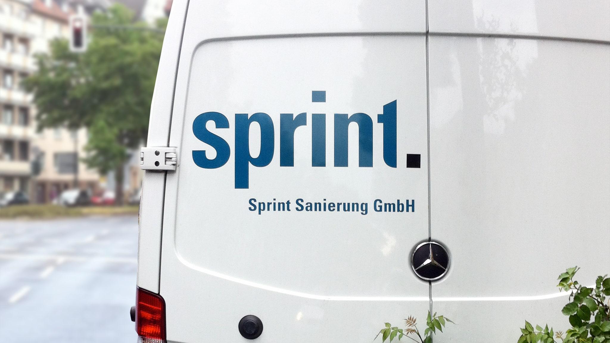 Erstellung Autobeschriftung für sprint Sanierung
