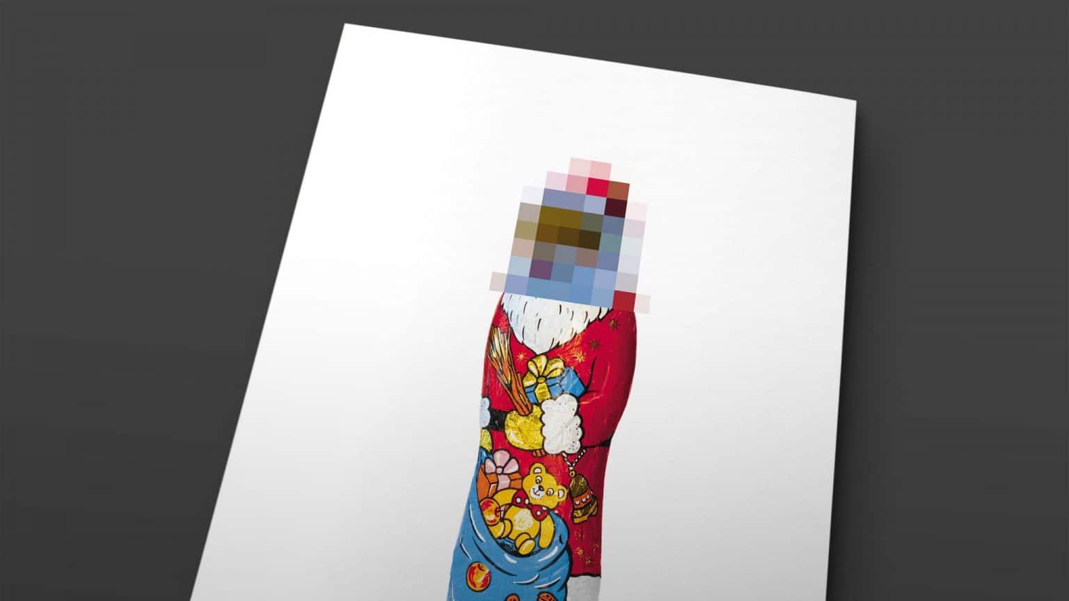 Motiv Weihnachtsmann für Weihnachtskarte