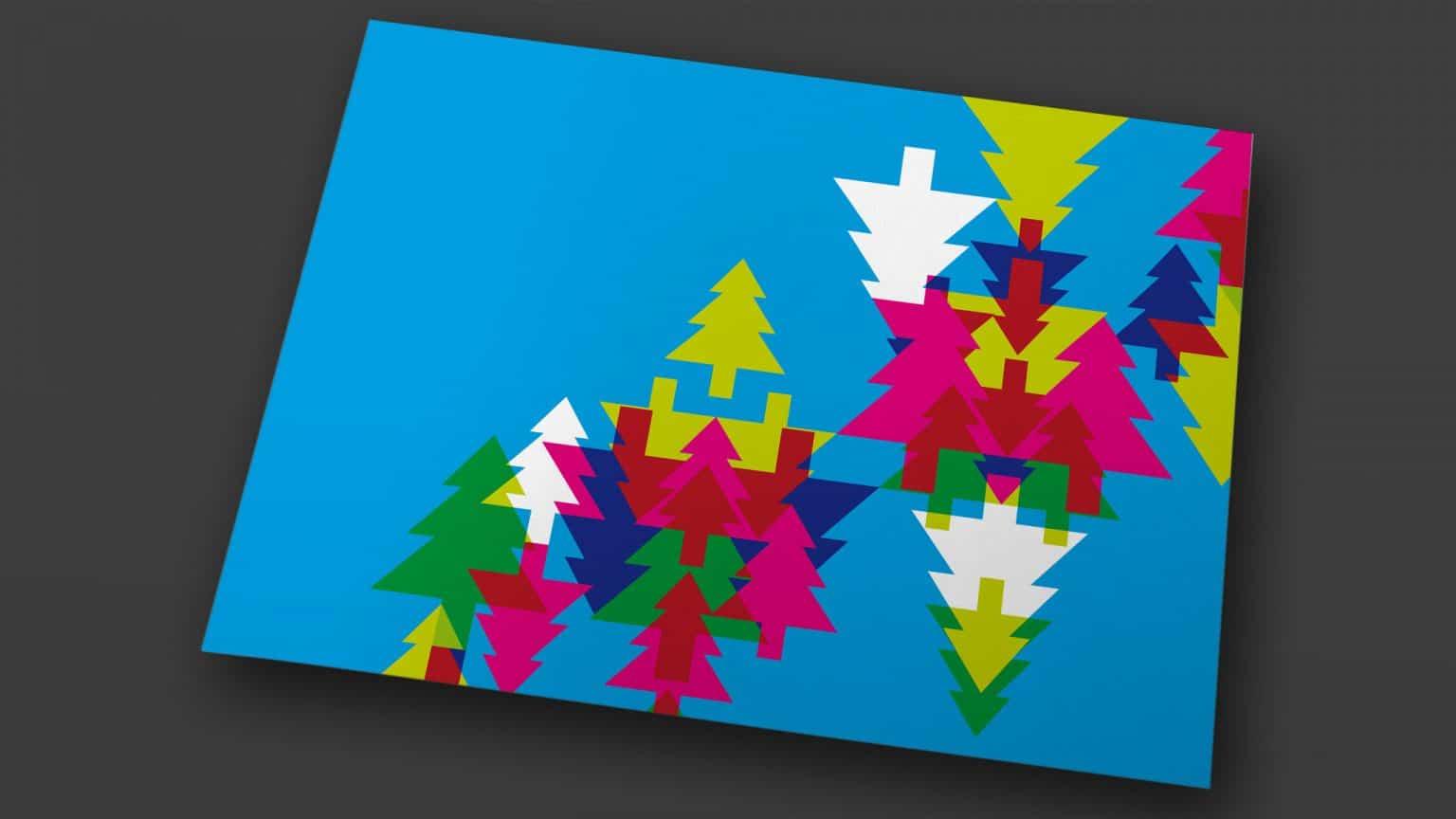 Grafische Motive für Weihnachtskarte