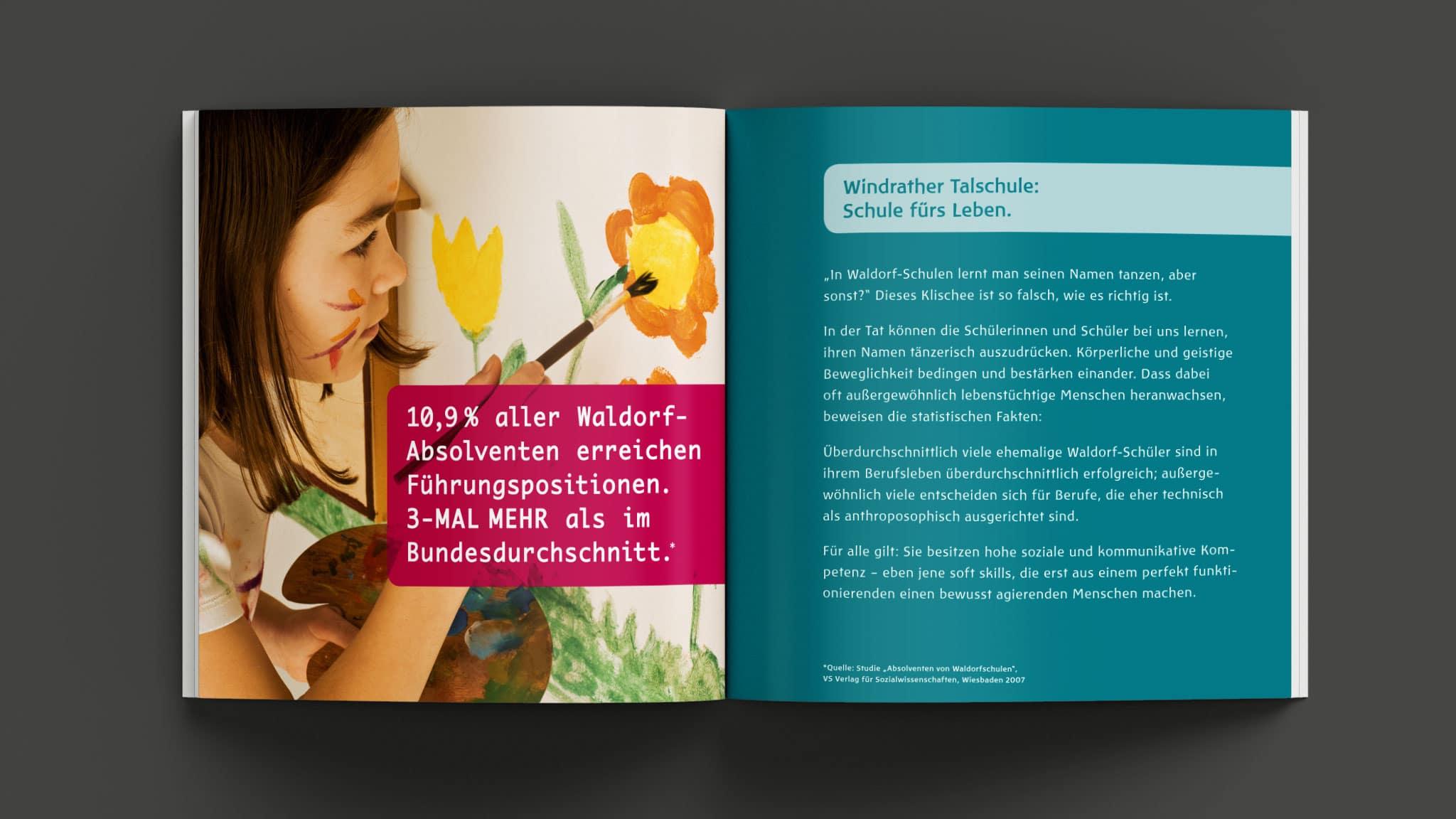 Bildmotive Werbebroschüre Waldorfschule