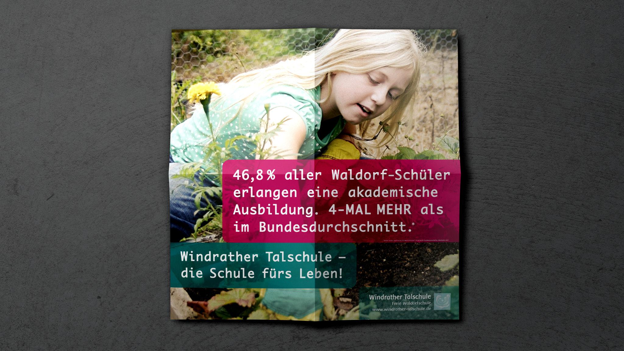 Kampagnen-Plakat für eine Waldorfschule