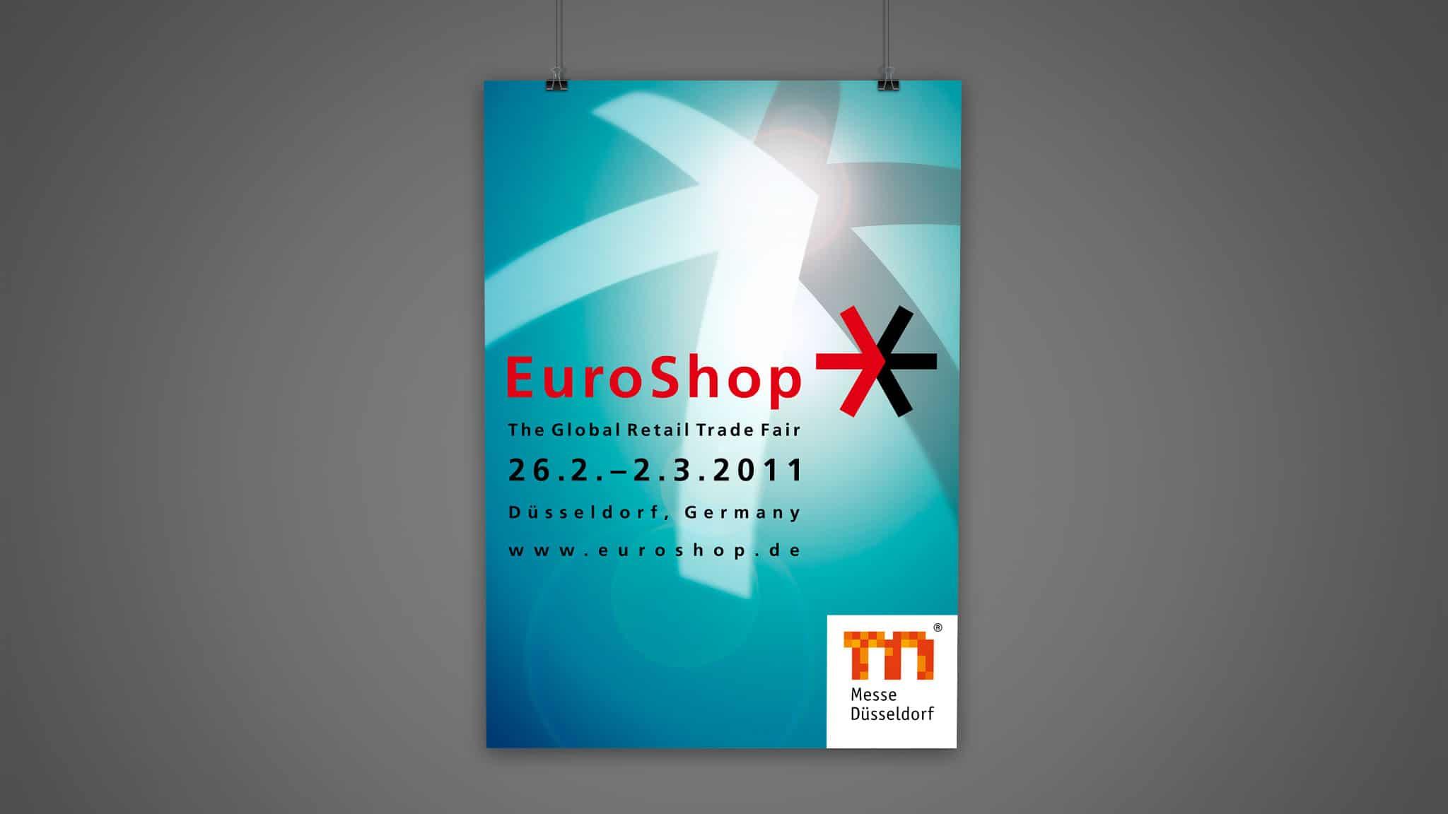 Plakatdesign für die Messe Düsseldorf