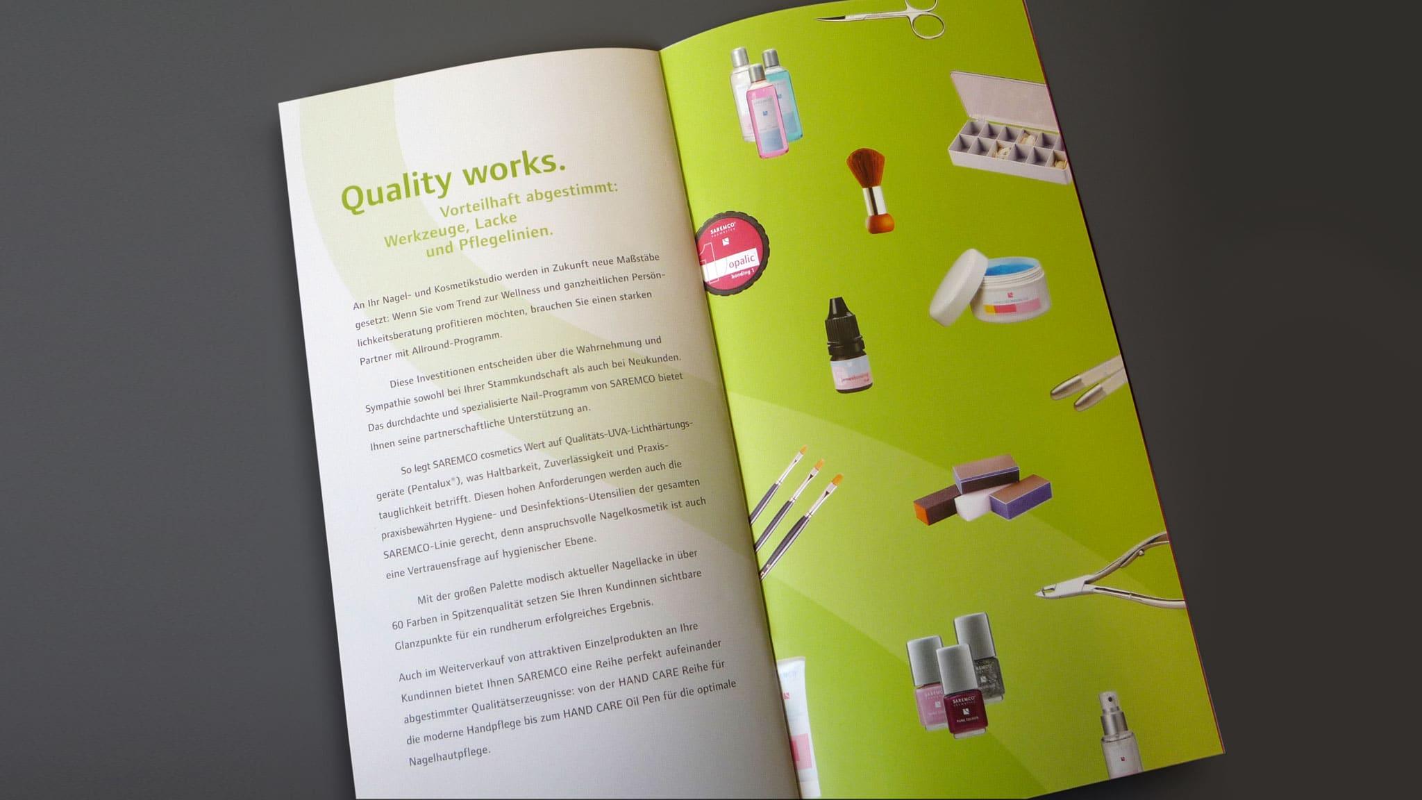 Grafiken Innenseite für einen Kosmetik-Hersteller