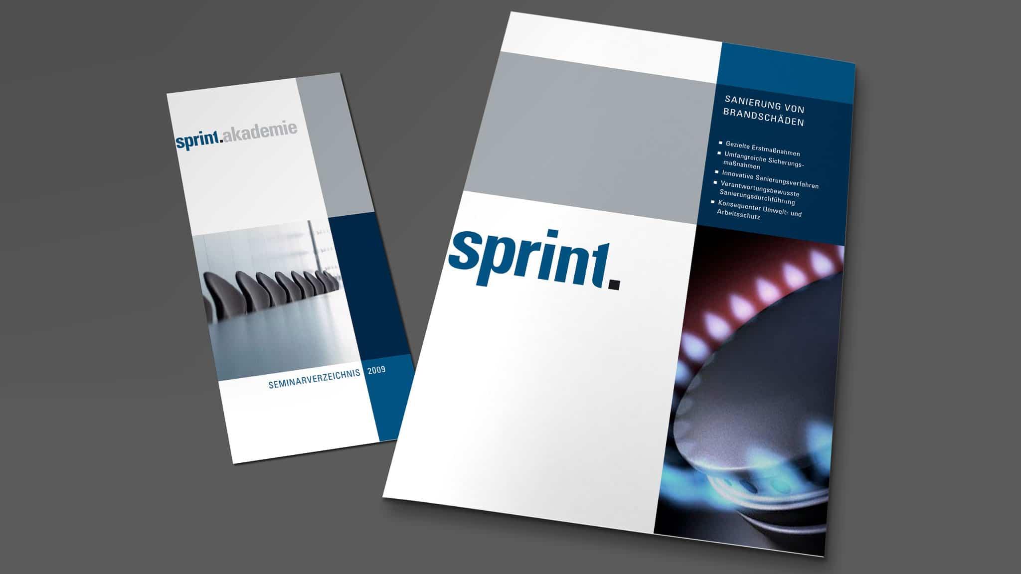 Broschüren-Erstellung für Sprint Sanierung