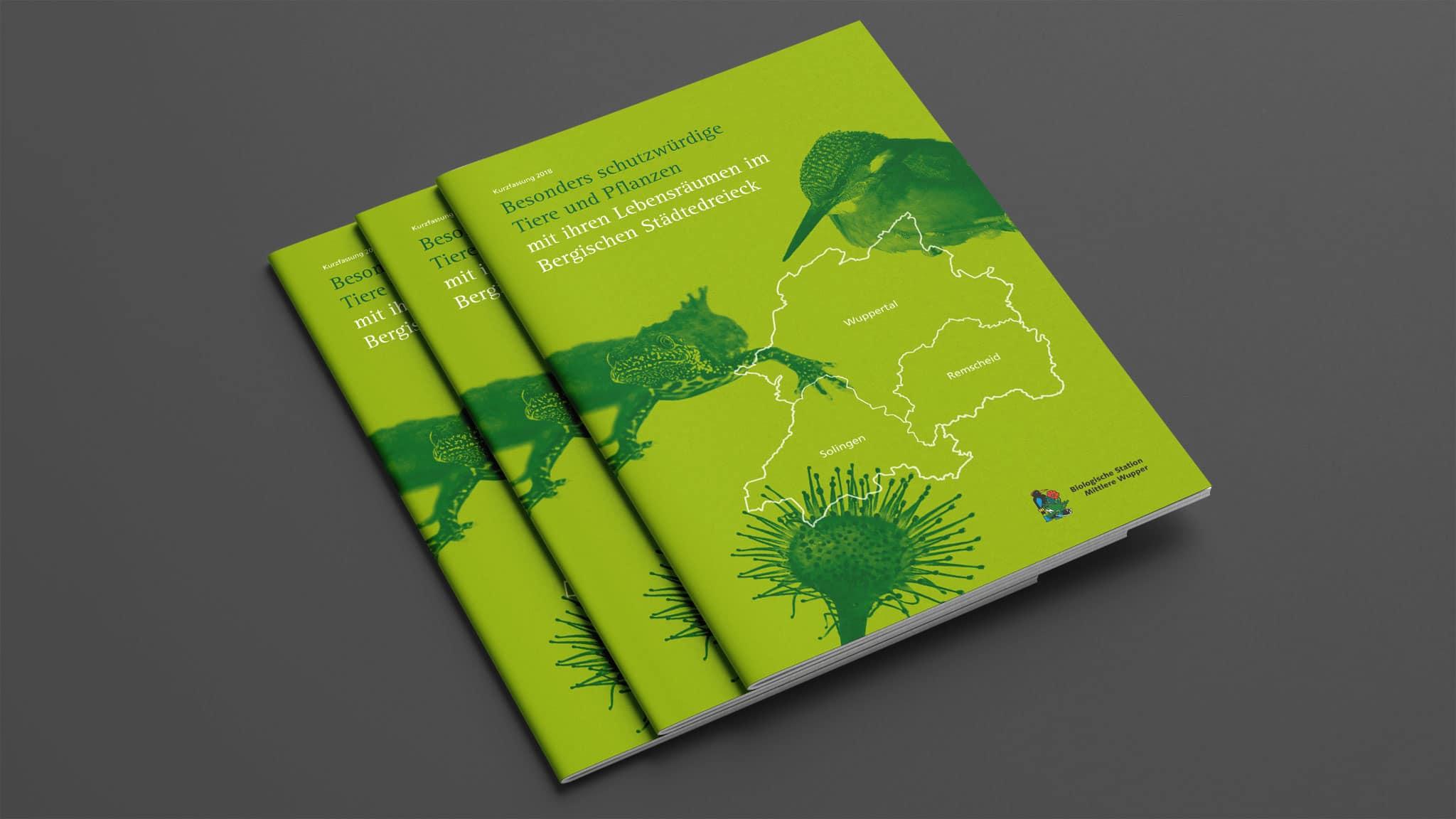 Titel-Design für die Broschüre Bergisches Städtedreieck
