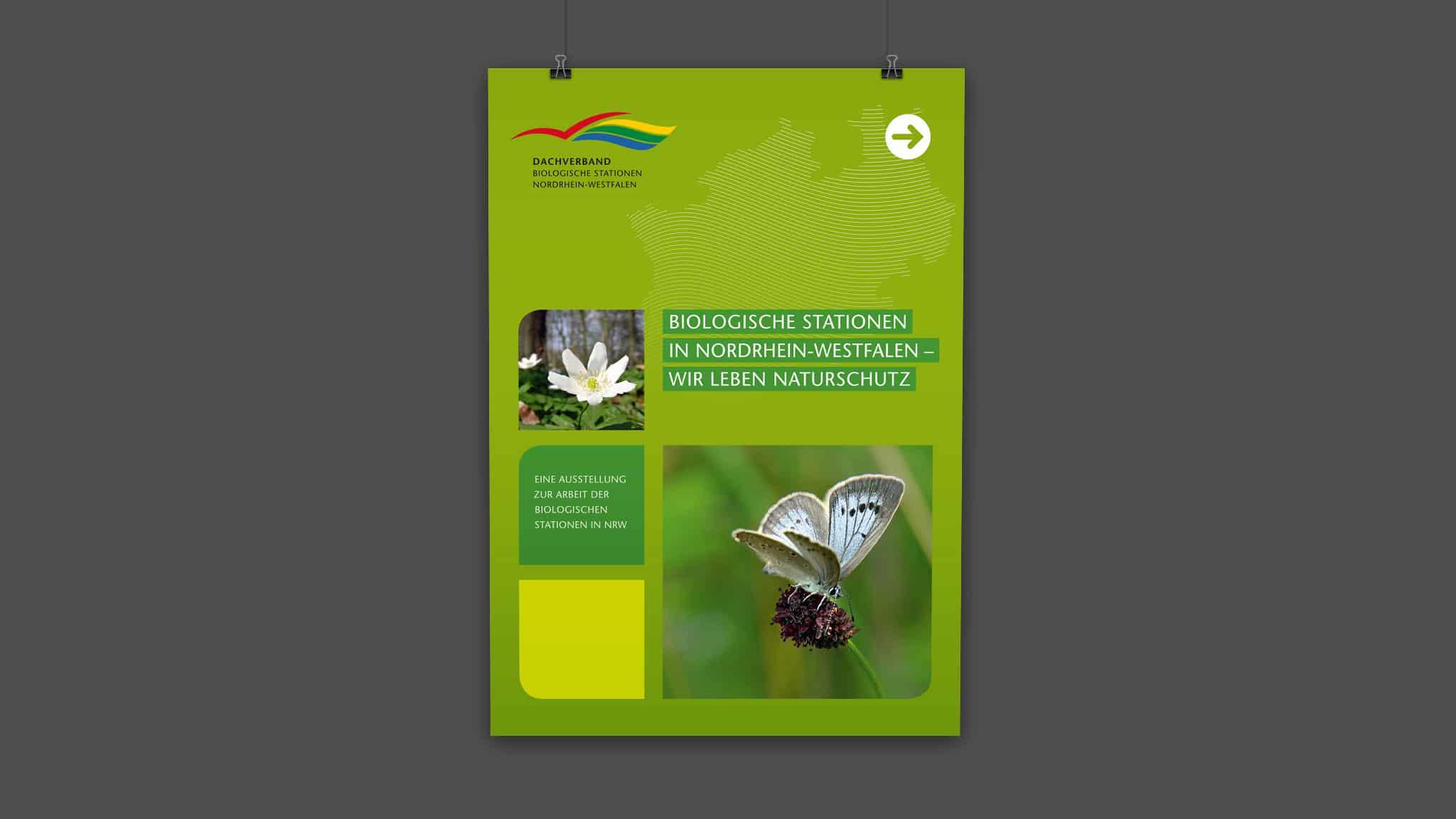 Plakat für den Dachverband der Biostationen NRW