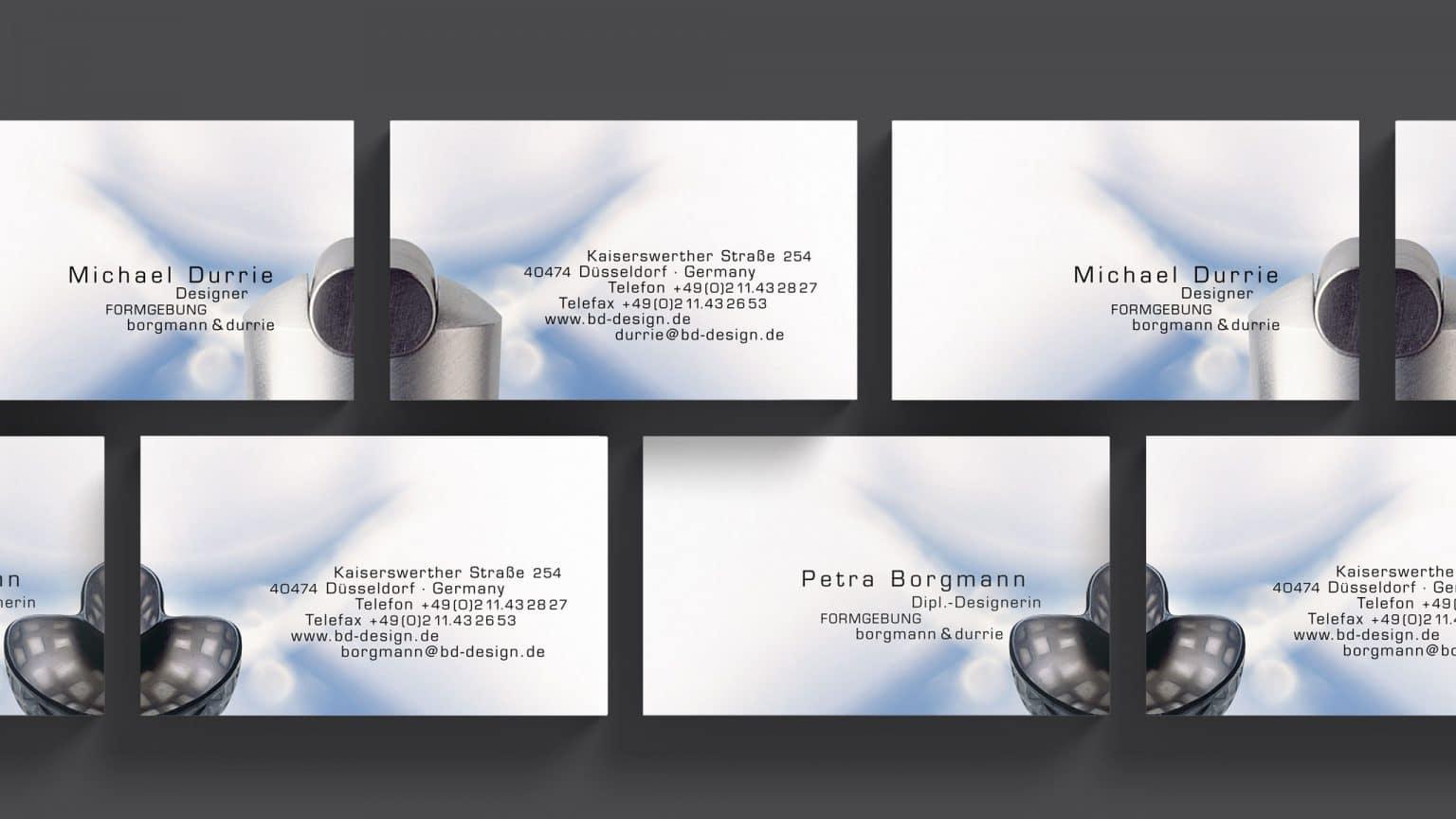 Visitenkarte Design Formgebung