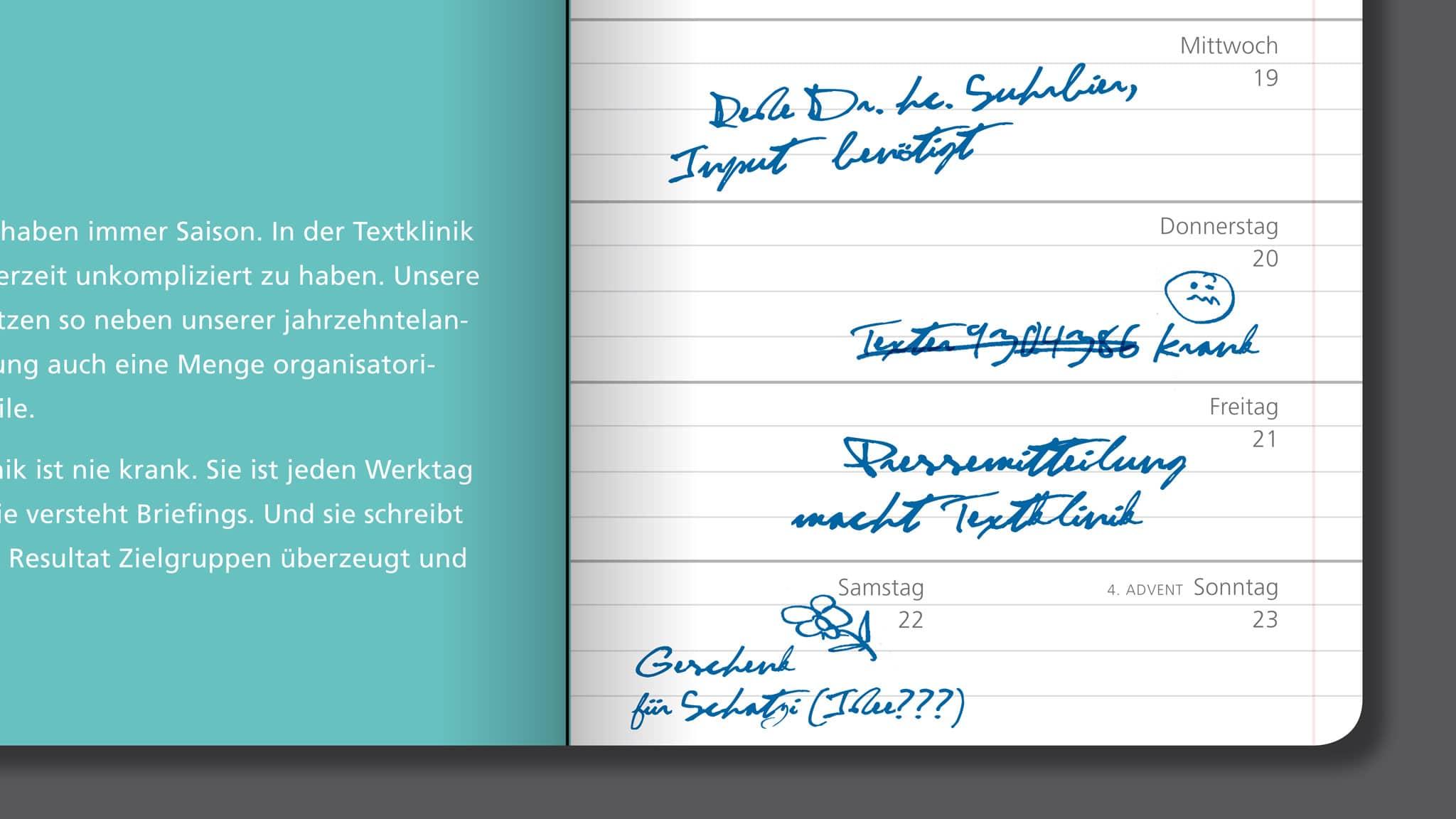 Detailseite Mailing für die Textklinik